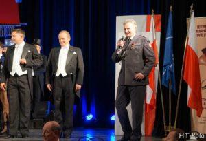 Pułk. Wojciech Ozga na otwarciu Dnia Polskiego w SHAPE; Fotograf: Henryk Tomczak