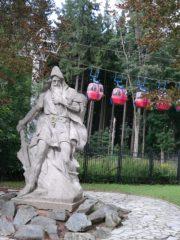 Mariańskie Łaźnie - kolejka linowa do parku miniatur