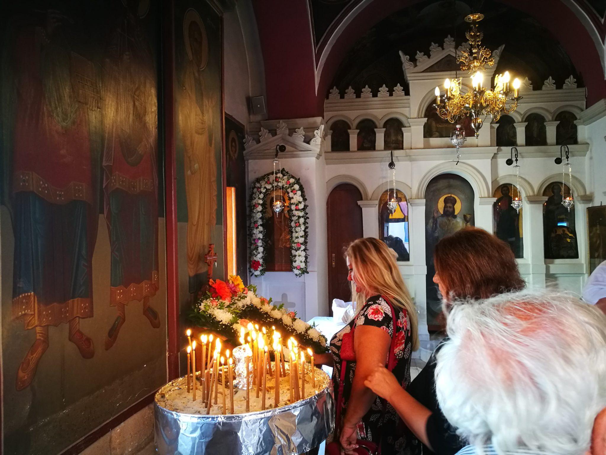 Egina - wnętrze jednej z cerkwi