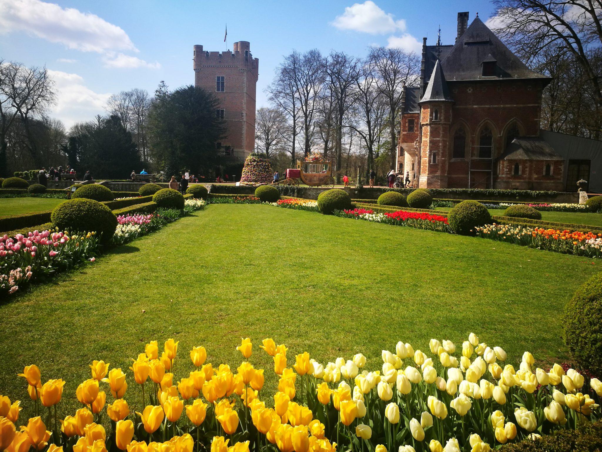 Zamek Groot-Bijgaarden od strony ogrodu