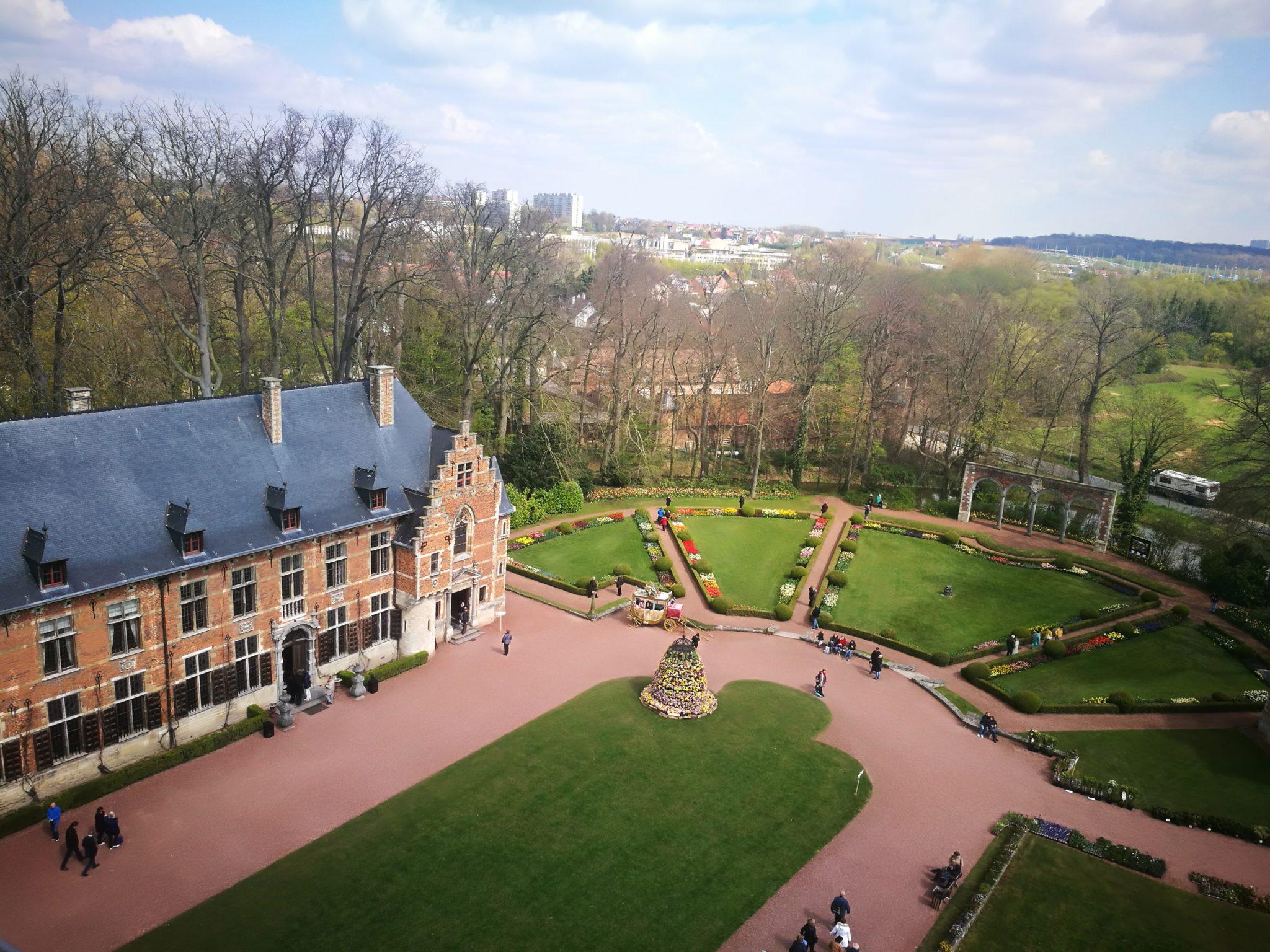 Zamek Groot-Bijgaarden – widok z wieży