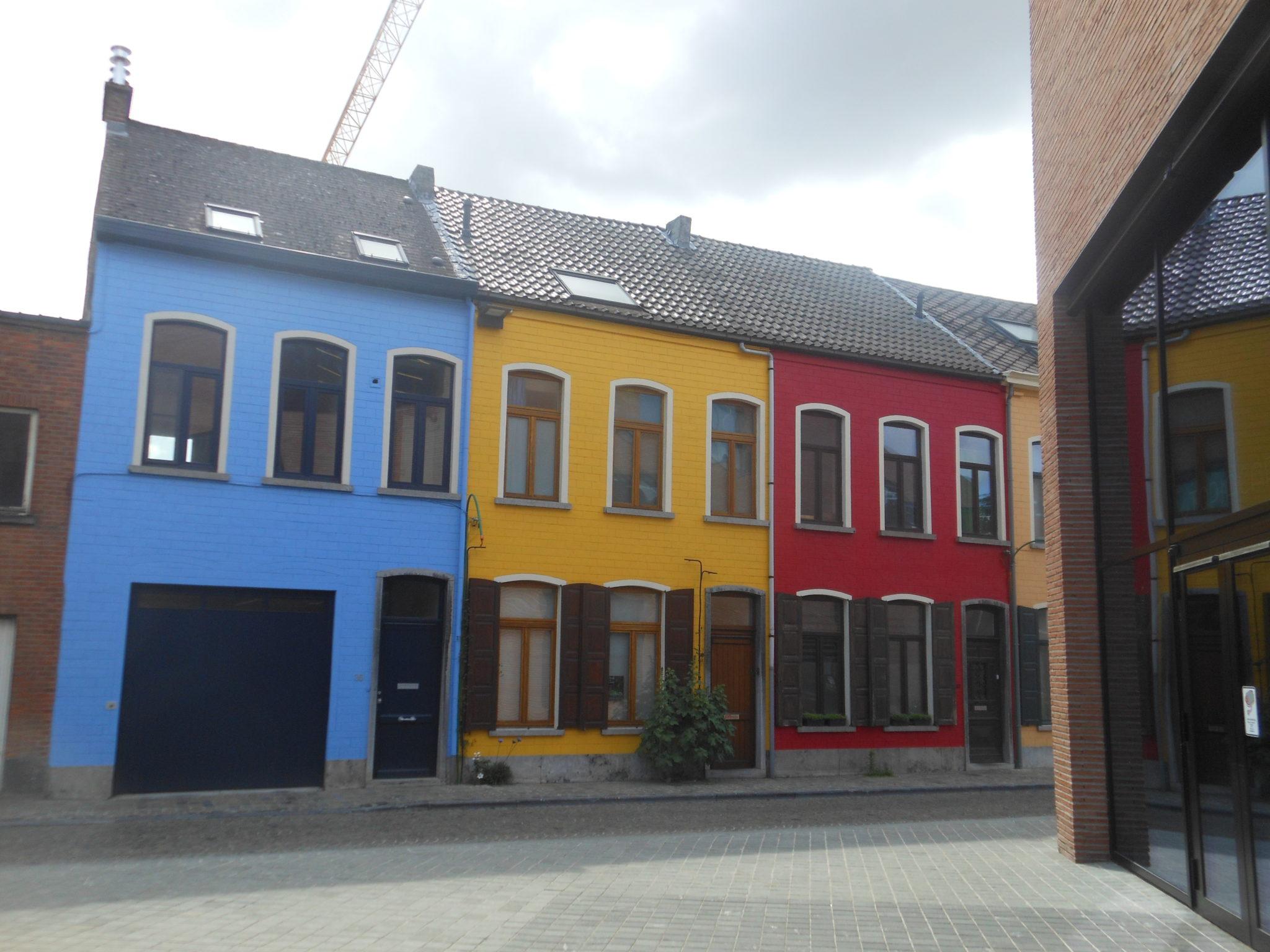 Kolorowe domy w Aalst