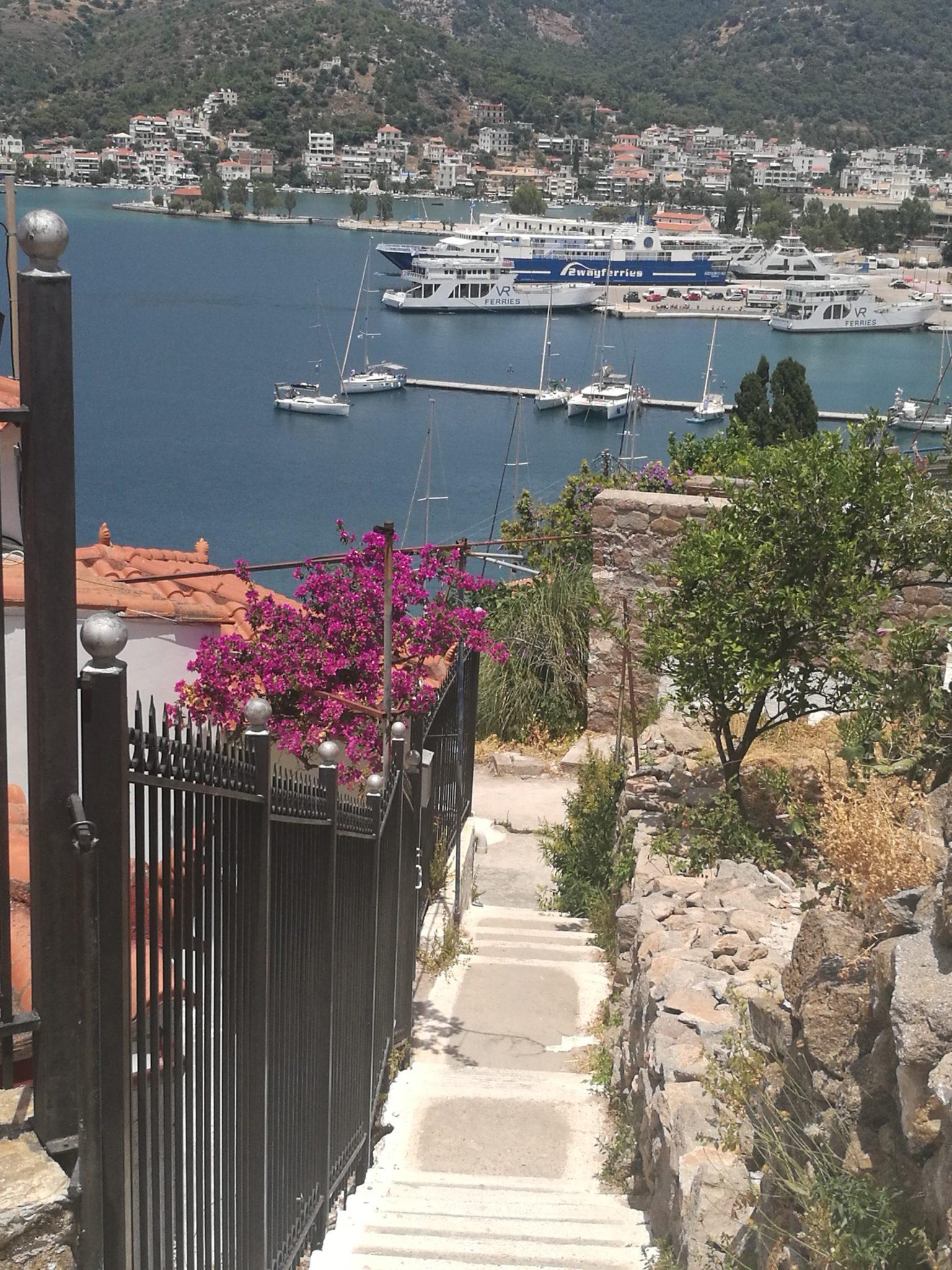 Wyspa Poros - widok na port