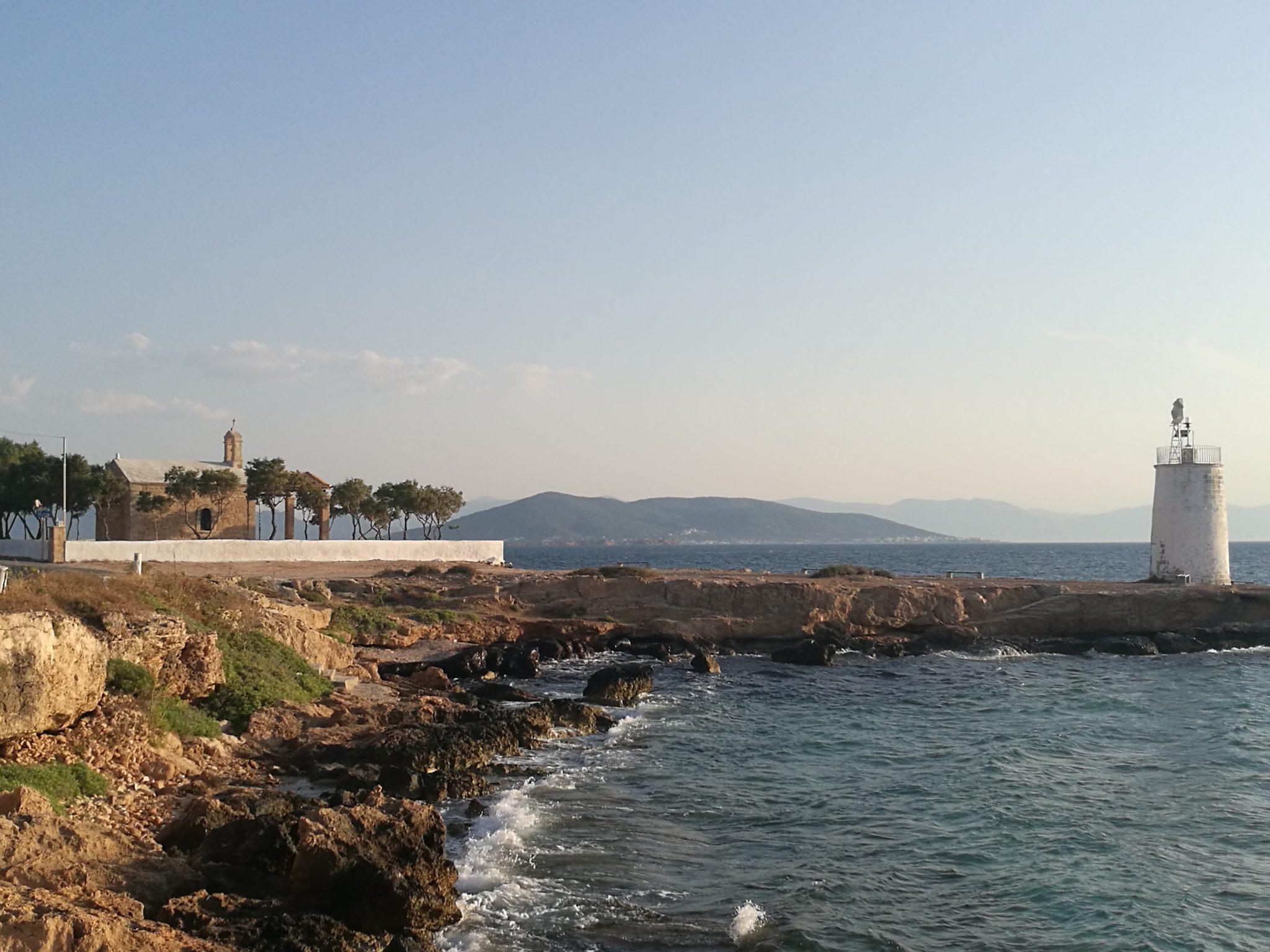 Grecka wyspa Egina - nadmorska cerkiew