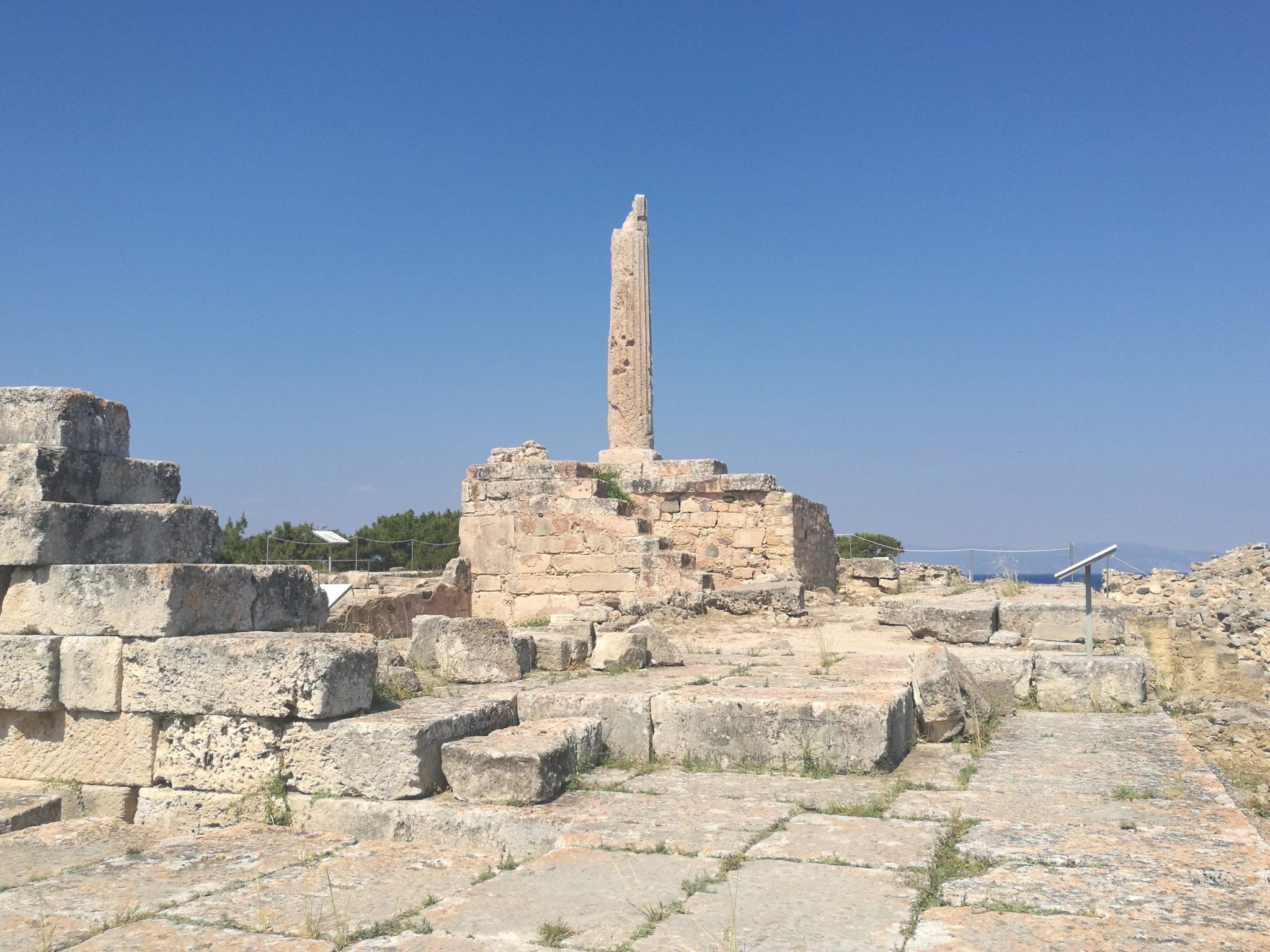 Egina - wzgórze Kolona