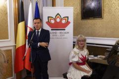 Ambasador RP w Królestwie Belgii, P. Artur Orzechowski, i Monika Del Rio; foto: Roger Del Rio