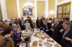 Pokoncertowe przyjęcie w Salonach Ambasady RP w Brukseli; foto: Roger Del Rio