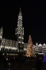 Brukselski Grand-Place wieczorem