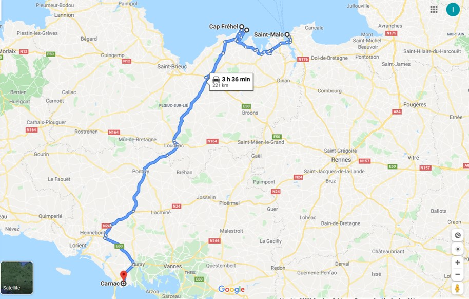 Bretagne - map